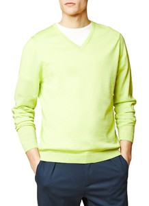 Maerz V-Neck Merino Extrafine Acid Green