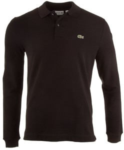 Lacoste Long Sleeve Slim-Fit Polo Black