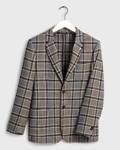 Gant Washable Check Blazer Warm Khaki