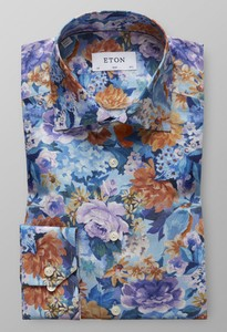Eton Floral Fantasy Cotton Tencel Sky Blue