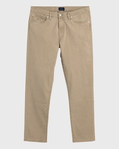 Gant Slim Straight Dusty Twill Jeans Donker Khaki