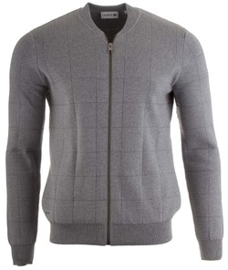 Lacoste Fancy Stitch Cotton Waistcoat Silver