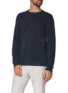 Maerz Uni Cotton Round Neck Navy