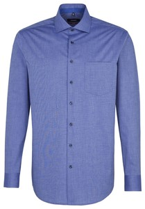 Seidensticker Faux Uni Spread Kent Sky Blue Melange