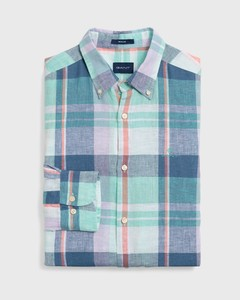 Gant Madras Linnen Pastel Pool Green