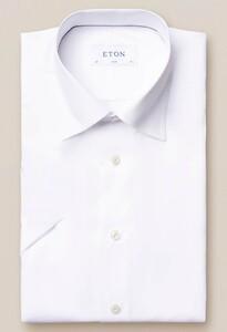 Eton Lightweight Twill Short Sleeve Wit