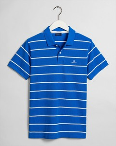 Gant Breton Stripe Piqué Rugger Nautical Blue