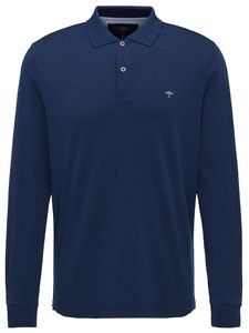 Fynch-Hatton Polo Longsleeve Interlock Midnight