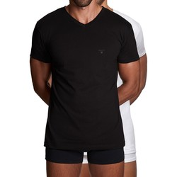 Gant Basic 2Pack V-Neck T-Shirt Black-White