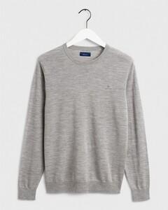 Gant Washable Merino C-Neck Grey Melange