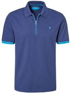 Pierre Cardin Polo Zip Futureflex Midden Blauw