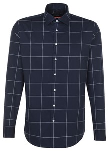 Seidensticker Twill Business Check Navy