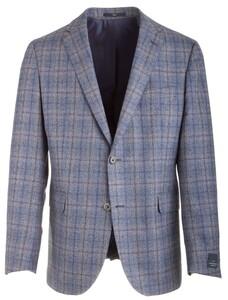 EDUARD DRESSLER Sean Shaped Fit Blue-Grey Square Blauw-Grijs