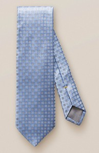 Eton Silver Contrast Floral Tie Sky Blue