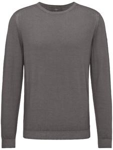 Fynch-Hatton O-Neck Garment Dyed Ashgrey