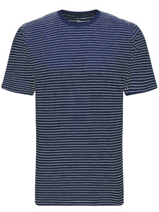 Fynch-Hatton T-Shirt Finestripe Midnight-White