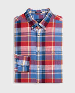 Gant Madras Colorful Check Cardinal Red
