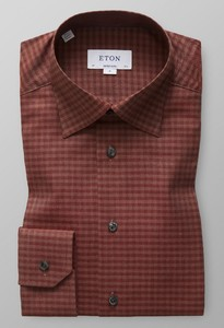 Eton Button Under Flannel Fine Twill Roodroze