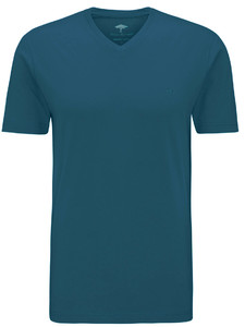 Fynch-Hatton V-Neck T-Shirt Petrol