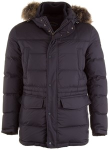 Paul & Shark 700 Fill-Power Long Jacket Navy