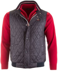 Paul & Shark Luxury Diagonal Step Body-Warmer Navy