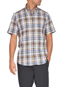 Maerz Easy Care Short Sleeve Check Yellow Finch