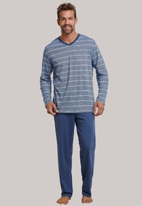 Schiesser Dark Sapphire Lange Pyjama Indigo
