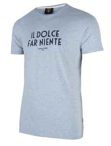 Cavallaro Napoli Ariosto Tee Light Blue