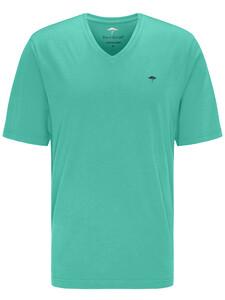 Fynch-Hatton V-Neck T-Shirt Fresh Mint