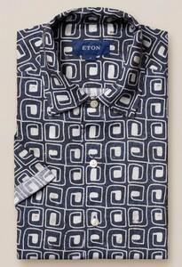 Eton Relaxed Short Sleeve Resort Zwart