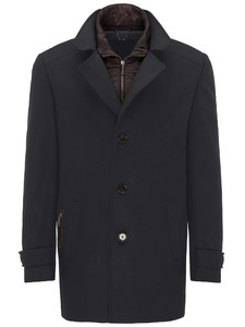 Fynch-Hatton Overjacket Wool Mix Zwart