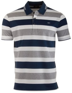 Paul & Shark White Font Barstripe Wit-Navy