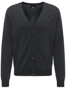 Fynch-Hatton Cardigan Button Wool Black