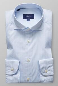Eton Fine Line Lightweight Twill Licht Blauw