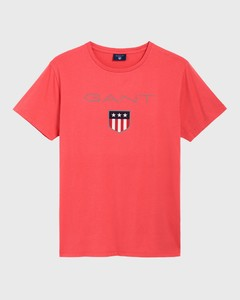 Gant Gant Shield T-Shirt Watermeloen Rood