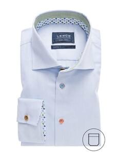Ledûb Uni Button Contrast Licht Blauw