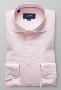 Eton Slim Striped Lightweight Twill Roze