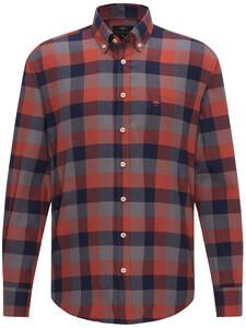 Fynch-Hatton Heavy Flannel Check Burnt Sienna