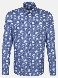 Jacques Britt Smart Casual Fantasy Floral Donker Blauw