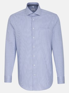 Seidensticker Stripe Twill Sleeve 7 Sky Blue Melange