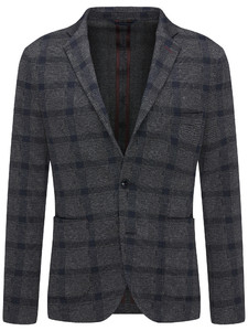 Fynch-Hatton Blazer Jersey Check Navy