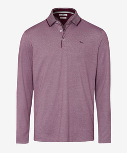 Brax Pharell Polo Lange Mouw Port Red