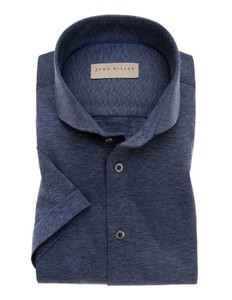 John Miller Short Sleeve Faux Uni Mid Blue