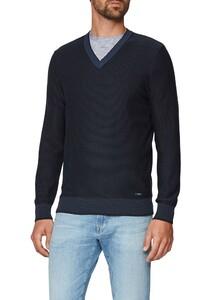 Maerz Uni Cotton Pullover Navy