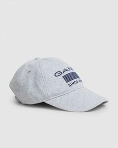 Gant 13 Stripes Jersey Cap Licht Grijs