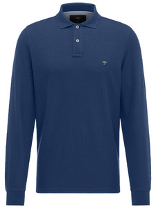 Fynch-Hatton Uni Polo Longsleeve Midnight