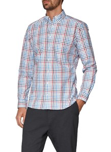 Maerz Check Button Down Just Red