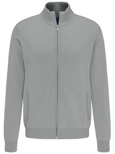 Fynch-Hatton Uni Cardigan Zip Silver