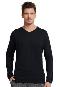 Schiesser Mix & Relax T-Shirt Zwart