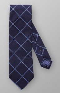 Eton Check Woven Silk Dark Navy